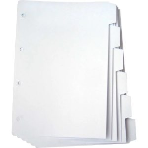 Divisoria Fichario Papel 06 Projeções UNIV. Branco