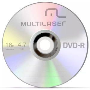 DVD R MULTILASER 4.7GB 16X DV061 PCT50