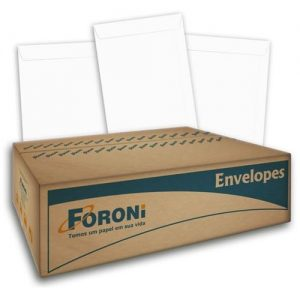 ENVELOPE CARTA COM RPC 114X162 BRANCO FORONI CX1000