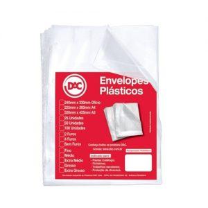 ENVELOPE PLASTICO A3 4FUROS MEDIO DAC PCT50 532450