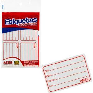 ETIQUETA ESCOLAR ADERE 53X80MM PCT16 5380IV
