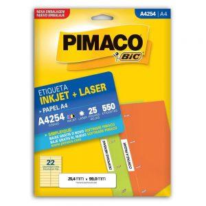 ETIQUETA PIMACO A4 LASER 254 N22 25FLS 25,4X99,0MM
