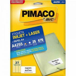 ETIQUETA PIMACO A4 LASER 255 N27 25FLS 31,0X63,5MM