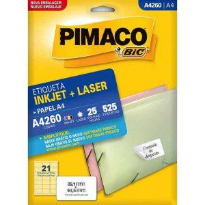 ETIQUETA PIMACO A4 LASER 260 N21 25FLS 38,1X63,5MM