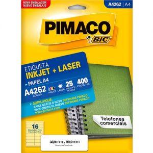 ETIQUETA PIMACO A4 LASER 262 N16 25FLS 33,9X99,0MM