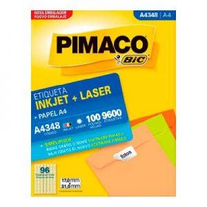 ETIQUETA PIMACO A4 LASER 348 N96 100FLS 17,0X31,0MM