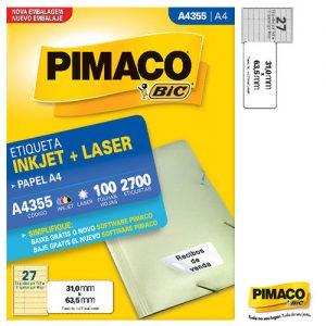 ETIQUETA PIMACO A4 LASER 355 N27 100FLS 31,0X63,5MM