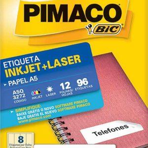 ETIQUETA PIMACO A5 Q3272 N08 12FLS 32X90MM