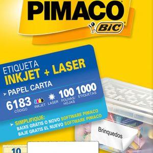 ETIQUETA PIMACO CARTA LASER 6183 N10 100FLS 50,8X101,6MM