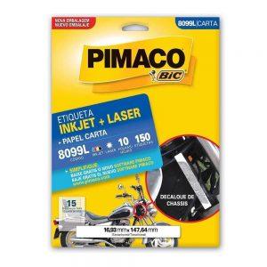 ETIQUETA PIMACO CARTA LASER 8099L N15 10FLS 16,93X147,64MM