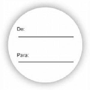 ETIQUETA PRESENTE GRESPAN DE PARA G-4 REDONDA BRANCA 100UND