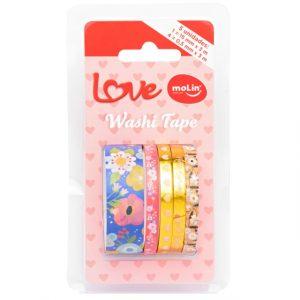 Fita Adesiva Molin Washi Tape Floral 05 Rolos 05 Modelos 23379