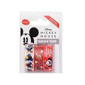 Fita Adesiva Molin Washi Tape Mickey 03 Unidades 15mm x 03m 23379