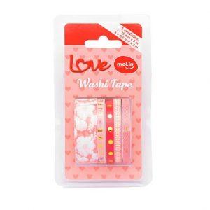 Fita Adesiva Molin Washi Tape Rosas 05 Rolos 05 Modelos 23378