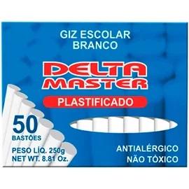 GIZ ESCOLAR DELTA BRANCO PLASTIFICADO CX50