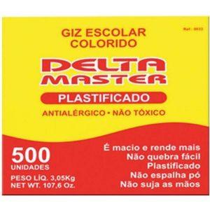 GIZ ESCOLAR DELTA COLORIDO PLASTIFICADO CX500
