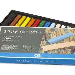 Giz Pastel Seco Graf Soft Pastels 12 Cores Básicas - Cis