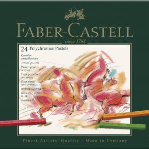 Giz Pastel Seco Polychromos Faber-Castell 24 cores 128524