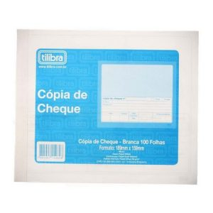 IMPRESSO COPIA DE CHEQUE BRANCA TILIBRA 100FLS 152625 PCT10