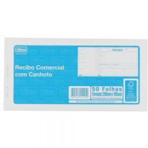 IMPRESSO RECIBO COMERCIAL COM CANHOTO TILIBRA 50FLS 151459
