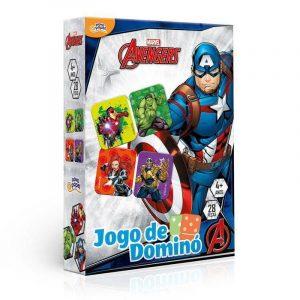 Jogo de Dominó Avengers 28 Peças Toyster 8037