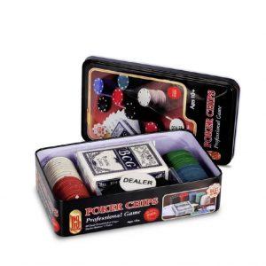 Jogo De Poker Chips 80 Peças MJ99002