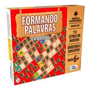 Jogo Formando Palavras em Madeira - Pais & filhos 29061