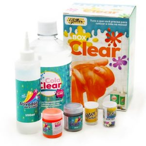 KIT BOX CLEAR SLIME GLITTER 06UND