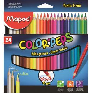 LAPIS DE COR MAPED 24 CORES COLOR PEPS 835524