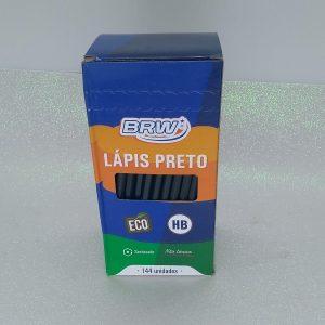 LAPIS PRETO BRW RESINA PLASTICA HB SEXTAVADO CX144 LP1444
