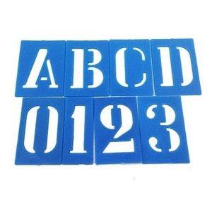 Letra Número Vazado Molde Pintura Pincel Tamanho 75mm - Budeplast