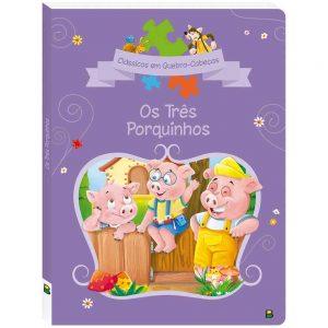 Livro Clássicos em Quebra-Cabeças Os Três Porquinhos