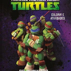 Livro Colorir e Atividades tartarugas Ninjas