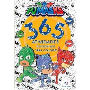 Livro Infantil 365 Atividades e Desenhos Para Colorir PJ Masks Ciranda Cultural