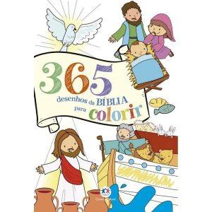 Livro Infantil 365 Desenhos da Bíblia Para Colorir Ciranda Cultural