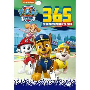 Livro Infantil 365 Desenhos Para Colorir Patrulha Canina Ciranda Cultural