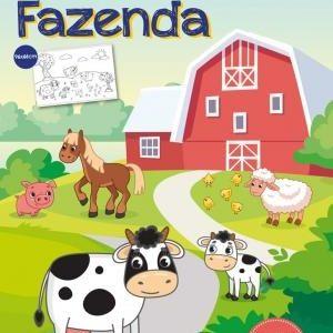 Livro Infantil Animais Da Fazenda Meu Livrão De Colorir Ciranda Cultural
