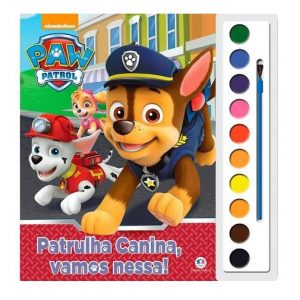 Livro Infantil Aquarela Patrulha Canina, Vamos Nessa! Ciranda Cultural