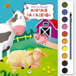Livro Infantil Com Aquarela Animais Da Fazenda Ciranda Cultural