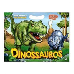 Livro Infantil Dinossauros Brincando na Pré-história Com 50 Adesivos Ciranda Cultural