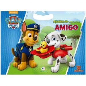 Livro Infantil Patrulha Canina Ajudando um Novo Amigo Com 50 Adesivos Ciranda Cultural