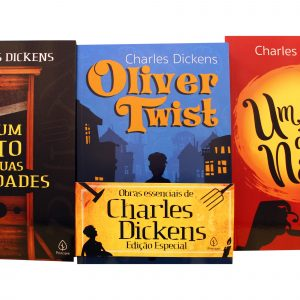 Livro Leitura kit Combo Charles Dickens Obras Essenciais 3 Volumes