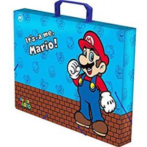 MALETA ESCOLAR DAC PLASTICA SUPER MARIO COM ALCA 2581