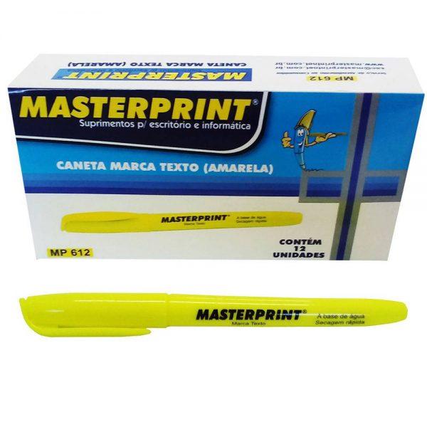 MARCA TEXTO MASTERPRINT AMARELO MP612