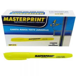 MARCA TEXTO MASTERPRINT AMARELO MP612 CX12