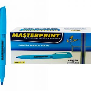 MARCA TEXTO MASTERPRINT AZUL MP612 CX12