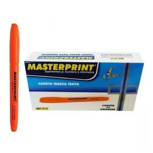 MARCA TEXTO MASTERPRINT LARANJA MP612 CX12