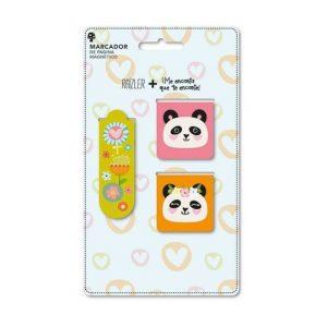 Marcador De Página Magnético Me Encanta Trio Panda MPG0203