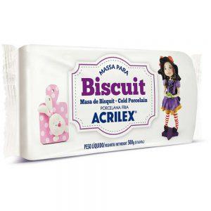 MASSA BISCUIT ACRILEX 90GRS BRANCO 519 CX06