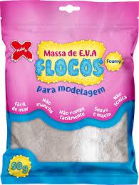 MASSA EVA MAKE FLOCOS BRANCO GLITER 50GRS 13033